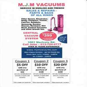 MJM Vacuums Sales, services and repairs