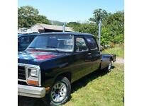 American Dodge Ram flat bed double cab pick up Rare beast 1off