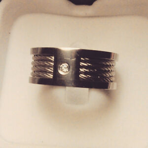 Mens Stainless Steel Ring with Cables St. John's Newfoundland image 2