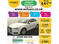 2016 WHITE AUDI A3 1.6 TDI 110 SE TECHNIK PETROL MANUAL 3DR CAR FINANCE FR 41 PW