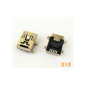 10pcs-5-pin-5-Pin-Female-Mini-B-USB-SMD-Socket-Connector