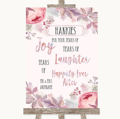 Lavender And Gold Wedding (Wedding Sign Poster Print Blush Rose Gold & Lilac Hankies And)