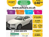 2016 WHITE AUDI A3 1.2 TFSI 110 SPORT PETROL MANUAL 3DR CAR FINANCE FROM 46 PW