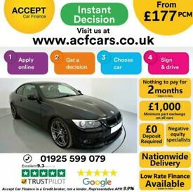 image for 2013 BLACK BMW 320D 2.0 M SPORT DIESEL MANUAL 2DR COUPE CAR FINANCE FR £177 PCM