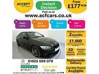 2013 BLACK BMW 320D 2.0 M SPORT DIESEL MANUAL 2DR COUPE CAR FINANCE FR £177 PCM