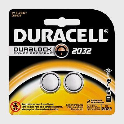 2-Pk 2032 DURACELL 3 Volt Lithium Battery DL2032 CR2032 Medical Security Fitness comprar usado  Enviando para Brazil