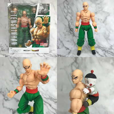 Anime S.H.Figuarts Tien Shinhan & Chaiotzu Dragon Ball Z Action Figure Toys Gift
