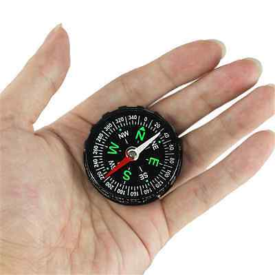 Survival Pocket Outdoor Button Filled Mini Handy Hiking Camping Compass Tool CA