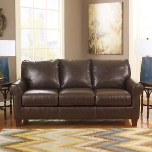 Acorn Bonded Leather Sofa ONLY $699 TAX IN & FREE LOCAL DELIVERY