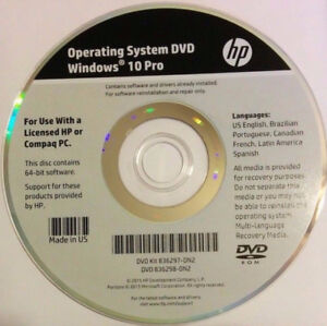 HP WINDOWS 8 AND 10 PRO REINSTALLATION DVD