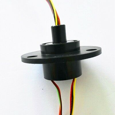 300rpm Capsule Slip Ring 6 Circuits Wires 22mm 2a Ac240v Test Equipment
