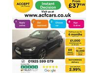 2014 BLACK AUDI A1 2.0 TDI 143 BLACK EDITION DIESEL 3DR CAR FINANCE FROM 37 P/WK