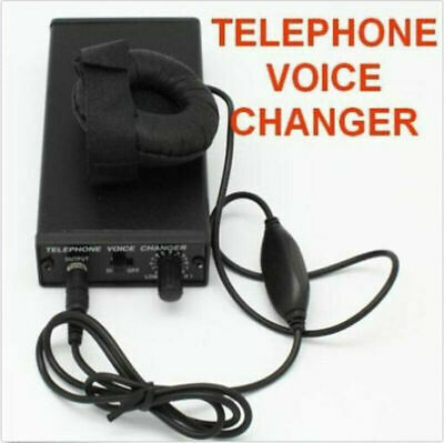 Spy Bug Telephone Voice Changer Professional Disguiser Phone Transformer on ear