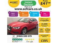 2015 RED AUDI A3 SPORTBACK 1.4 TFSI 125 SPORT PETROL 5DR CAR FINANCE FROM 41 PW