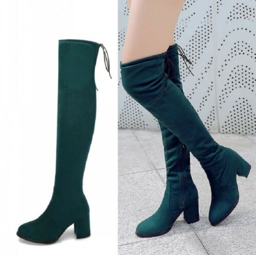 Teal Thigh High Boots