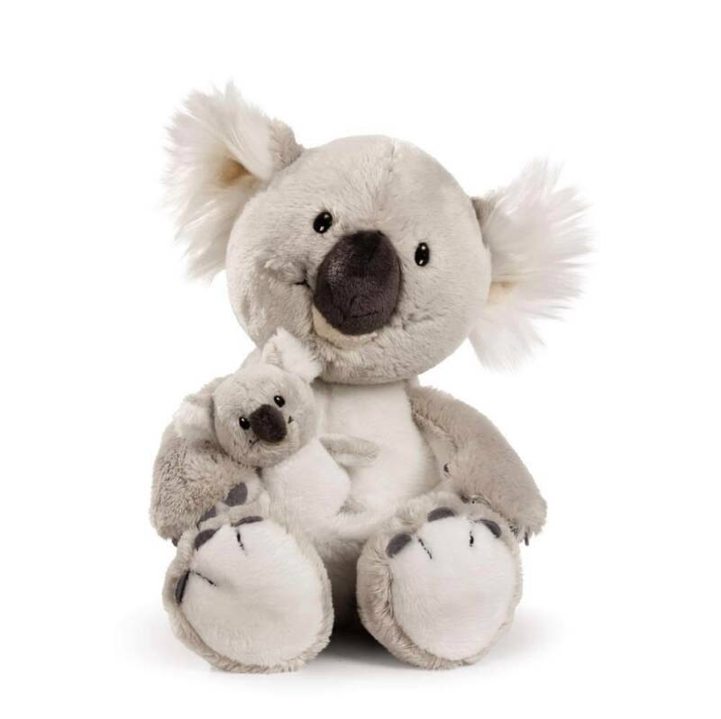 "Nici Germany 9"" Koala Plush  w 3"" Baby NWT Retired Design Super Soft Cuddly"