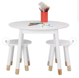 Brand new kids table and 2 stools