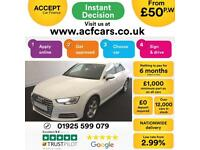 2016 WHITE AUDI A4 1.4 TFSI 150 SPORT PETROL SALOON CAR FINANCE FROM 50 P/WK