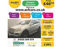 2011 SILVER MERCEDES ML300 3.0 CDI SPORT DIESEL AUTO 4X4 CAR FINANCE FROM 46 P/W