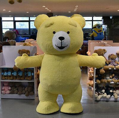 bd04c55fe63 Inflatable Plush Teddy bear Mascot Costume Adult Size Halloween fancy dress  hot