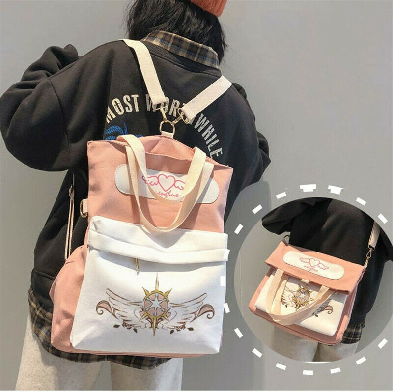 Hot Japan Anime Card Captor Sakura Casual Student Bag Backpack Canvas School Bag