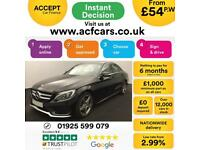 2015 BLACK MERCEDES C220 2.1 BLUETEC AMG LINE SALOON CAR FINANCE FROM 54 P/WK