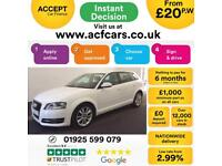 2012 WHITE AUDI A3 SPORTBACK 2.0 TDI 140 SPORT DIESEL 5DR CAR FINANCE FROM 20 PW