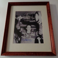Jean Beliveau Canadiens Stanley Cup Framed Photo Auto Signed COA