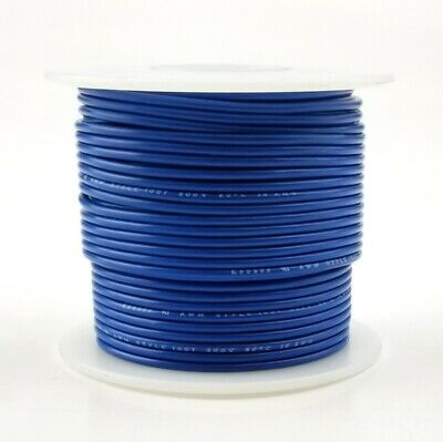 20 Awg Gauge Solid Blue 300 Volt Ul1007 Pvc Hook Up Wire 100ft Roll 300v
