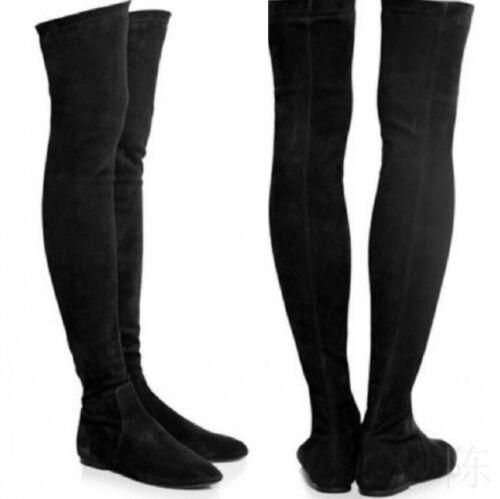 Thigh High Boots No Heel