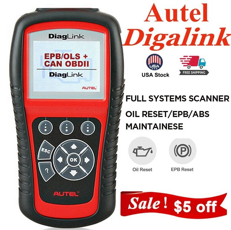 Autel MaxiDiag Elite MD802 All System Scanner ABS SRS Code Reader EPB Oil Reset