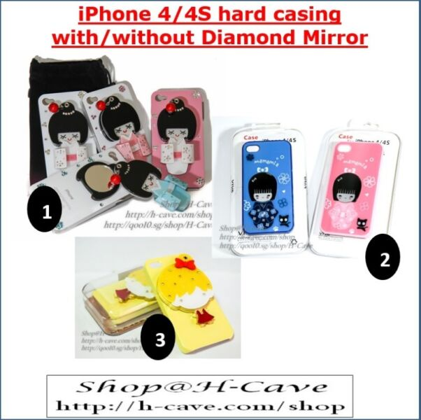 iPhone 4/4S Hard Casing (With / Without Flip Mirror  )