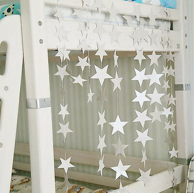 4M Paper Shimmer Star Wedding Party Festival Ornaments Garland Hanging DIY - Diy Paper Ornaments