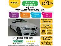 2015 WHITE BMW 420D CONVERTIBLE 2.0 M SPORT DIESEL AUTO CAR FINANCE FR £241 PCM