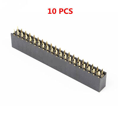 10pcs 2.54mm 2x20 220 Pin Double Row Female Straight Header Pitch Socket Strip