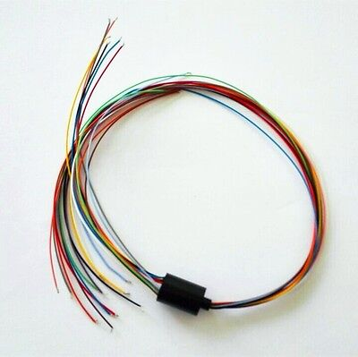 12.5mm Mini Slip Ring 12 Circuits2a 12 Wires 240v Test Equipment