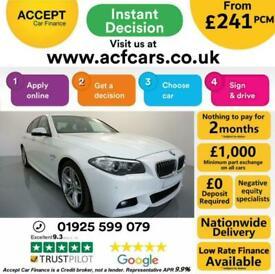 image for 2014 WHITE BMW 525D 2.0 M SPORT DIESEL AUTO 4DR SALOON CAR FINANCE FR £241 PCM