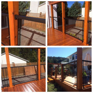 """Extra""  Stunning Deck glass and black wrought iron railings"