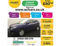 2014 BLUE NISSAN QASHQAI 1.2 DIG-T ACENTA PREMIUM HATCH CAR FINANCE FR £50 PW