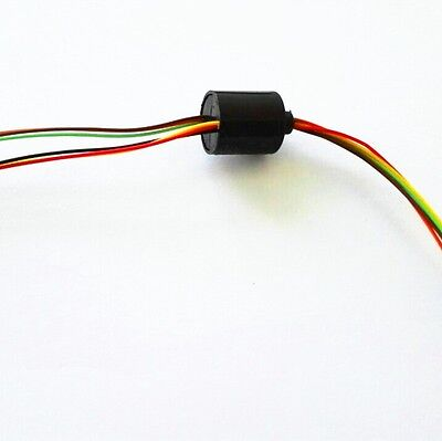 12.5mm 6 Wires2a 6 Circuits Slip Ring Ac240v For Monitor Robotic