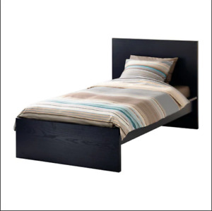 Ikea Malm single bed - assembled, brand new, never used.