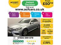 2013 SILVER MERCEDES E250 2.1 CDI AMG SPORT AUTO SALOON CAR FINANCE FROM 50 PW