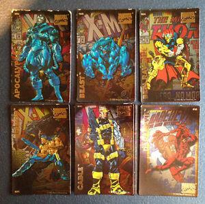 Marvel comics trading card fridge magnets