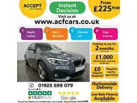 2017 GREY BMW 118D 2.0 M SPORT DIESEL MANUAL 5DR HATCH CAR FINANCE FR £225 PCM