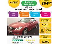 2013 RED MERCEDES E250 CDI SPORT DIESEL AUTO CONVERTIBLE CAR FINANCE FROM 54 P/W