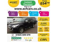 2015 BLACK MITSUBISHI L200 2.4 DI-D BARBARIAN 4WD CREW CAB CAR FINANCE FR £54 PW, used for sale  Warrington, Cheshire