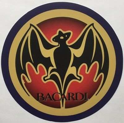 "Bacardi Rum 7"" Round Metal Sign"