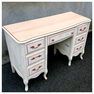 Bureau Vintage Shabby chic Provençal French desk
