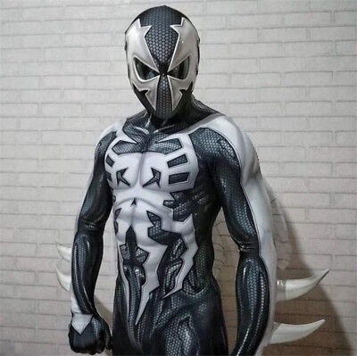 Mens Muscle Suit (2099 Ultimate Spider-Man Cosplay Costume Spiderman Muscle Zentai Suit)