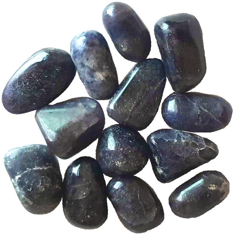 Bulk Lot 1 lb Iolite Cordierite Tumbled Stones Chakra Reiki Crystal Healing